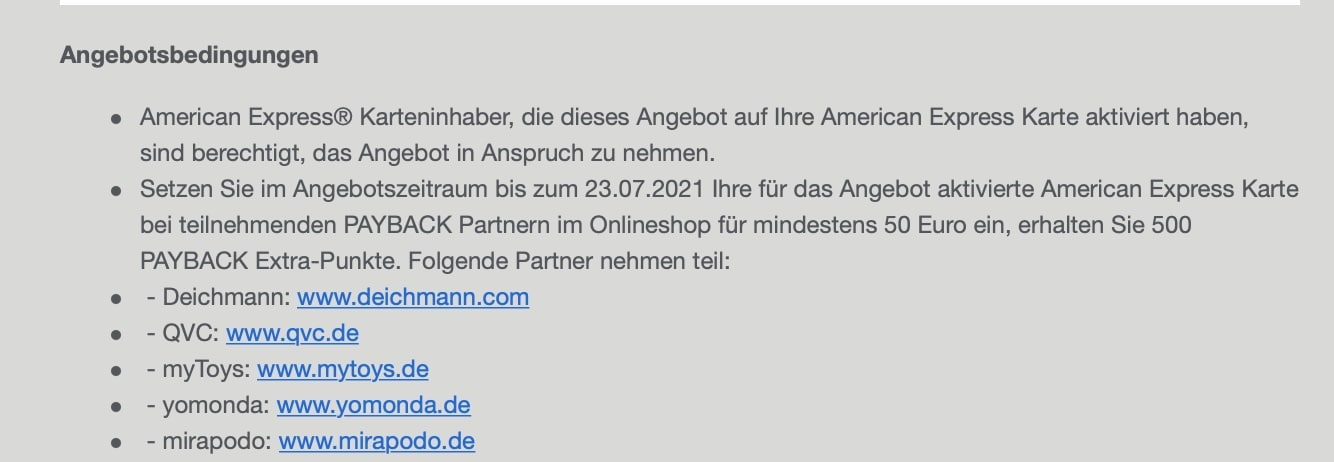 Amex Blue Payback AmexOffers