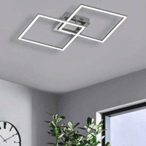 EGLO LED Deckenleuchte Palmaves 1, 2 flammige Deckenlampe