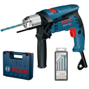 Bosch Schlagbohrmaschine GSB 13 RE inkl. 4 Bohrer und Koffer 600 Watt