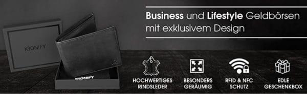 Herren Geldboerse aus Rindsleder mit RFID Schutz 2