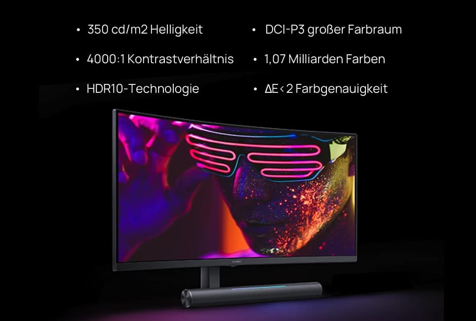 Huawei MateView GT 34 Zoll Gaming Monitor Farbe