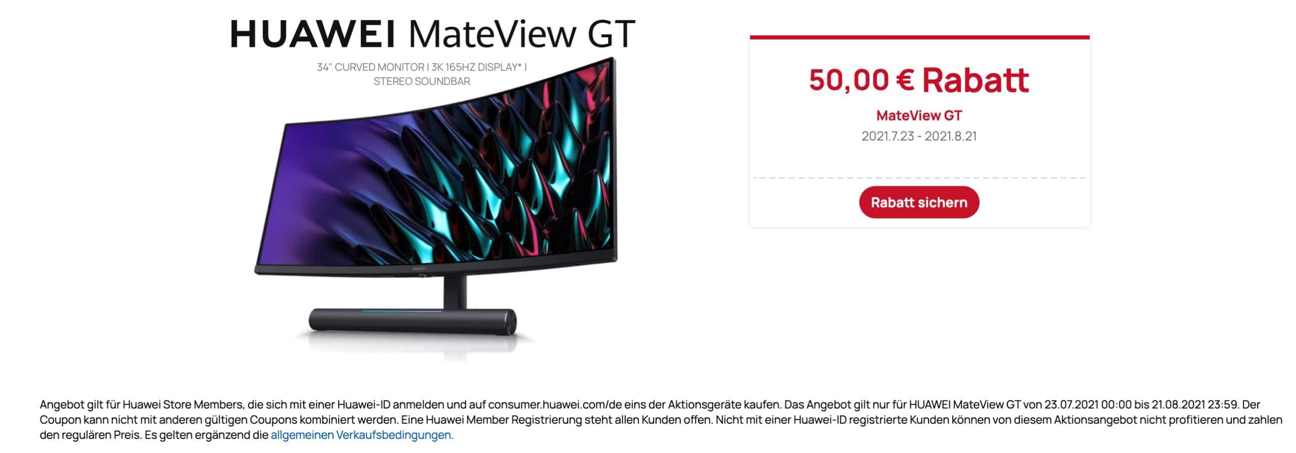 Huawei MateView GT 34 Zoll Gaming Monitor Rabatt  scaled