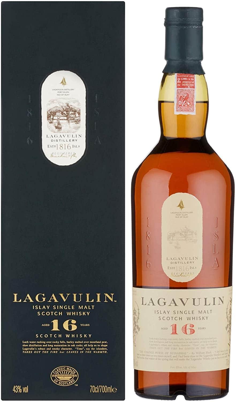 Lagavulin 16 Jahre Single Malt Scotch Whisky Trockener und rauchiger Islay Whisky 700ml