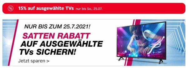 Otto.de 15 Prozent auf ausgewählte Fernseher