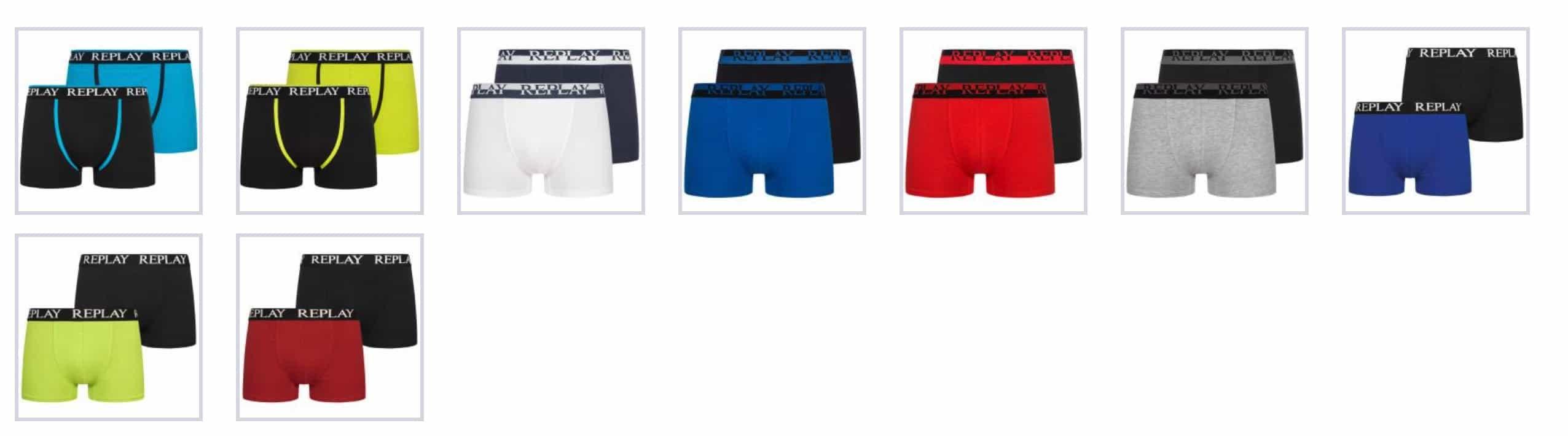 Sportspar Replay Boxershorts 2er Set Farbe