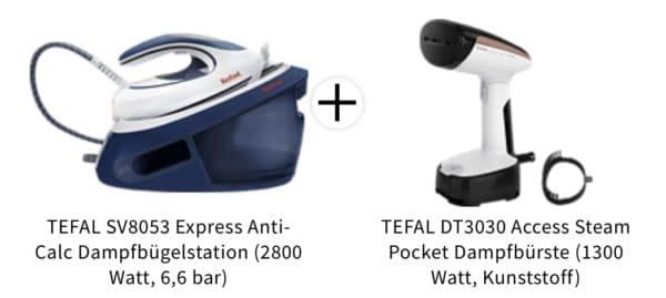 Tefal Express Anti Calc Dampfbuegelstation  Steam Pocket Dampfbuerste