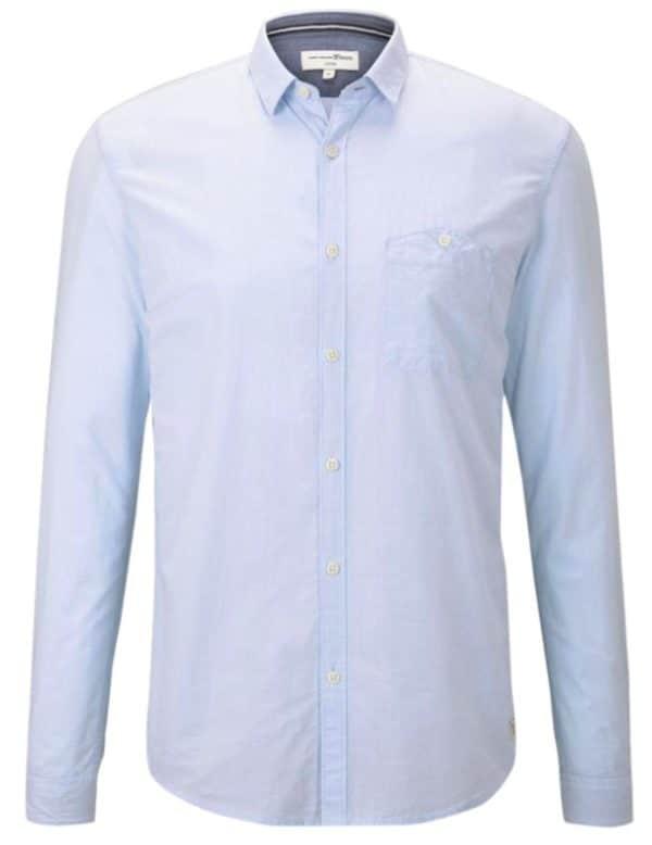 Tom Tailor Denim Herren Freizeithemd Mini Vichy Shirt - Slim Fit