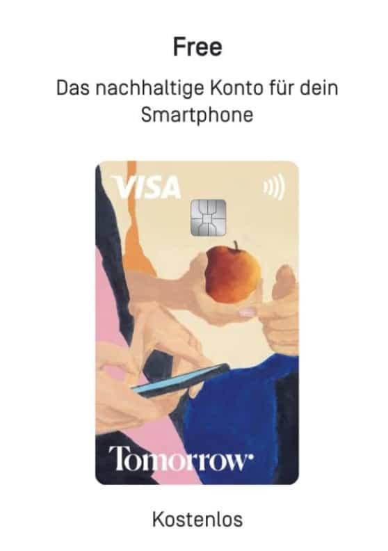 Tomorrow Visa Debit Free