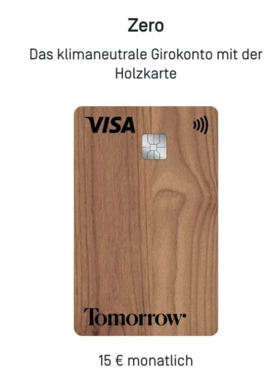 Tomorrow Visa Debit Zero