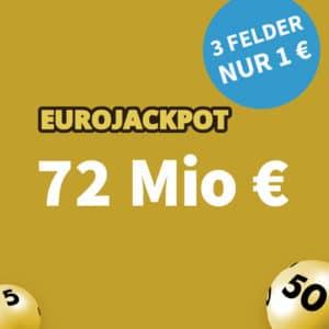 🏆 72 Mio. € Jackpot 💵🍀 3 Felder für 1€, GRATIS-Tipp & mehr (für Neukunden)
