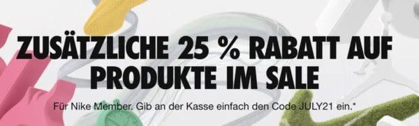Nike Sale 25 Prozent Rabatt