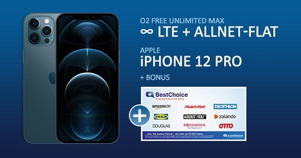 o2 free unlimited max apple iphone 12 pro bonus deal