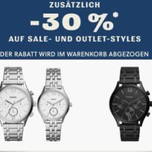Jetzt mit 30% Extra - Rabatt! ⌚👛 Fossil Sale & Outlet, z.B. Uhren, Geldbörsen & mehr