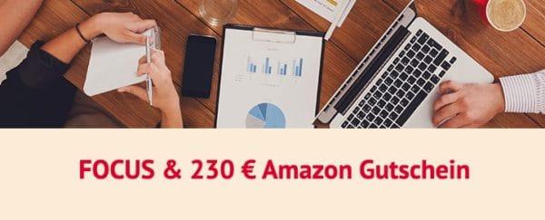 12 Monate FOCUS für 265,20€ + 230€ Prämie
