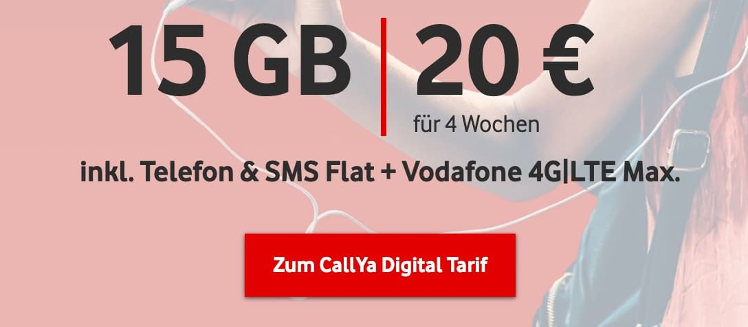Callya Digital 15GB statt 10GB banner