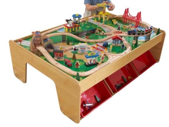 KidKraft 17850 Eisenbahnset und Spieltisch