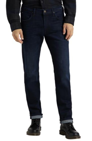 Lee Herren Jeans Daren Zip Fly   Regular Fit   Blau   Dark Tonal Park kaufen   JEANS DIRECT.DE 2021 08 29