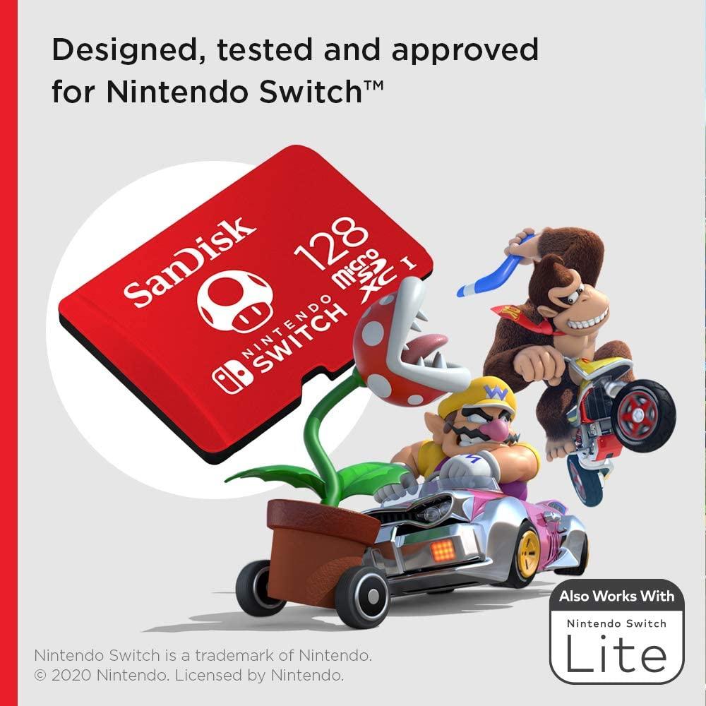 SanDisk microSDXC UHS I Card for Nintendo Switch