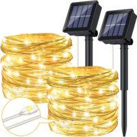 Solar Lichterkette Aussen Ruyilam 12M 120LEDs