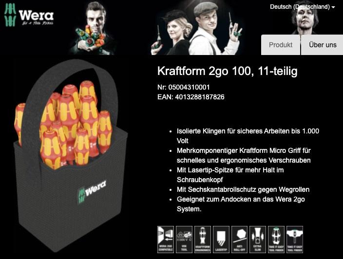 Wera Kraftform 2go 100 VDE Schraubendreher Set 11teilig Schlitz Kreuzschlitz Pozidriv Kreuzschlitz Phillips Innen Sechsrund  2021 08 24