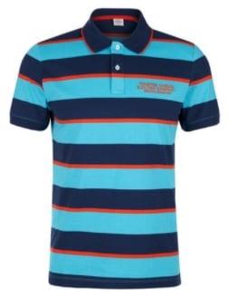 s.Oliver Poloshirt blau gestreift