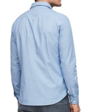 s.Oliver Stretchhemd blau