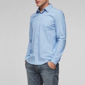 s.Oliver Stretchhemd blau für Herren
