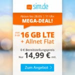 🎉 Flexible 16GB LTE Flat + Allnet für 14,99€ mtl.