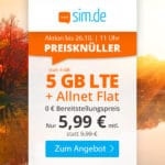 😲💥Flexible o2 5GB LTE + Allnet Flat für 5,99€ mtl.