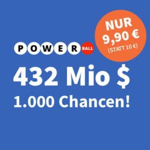 $432 Mio. PowerBall Jackpot