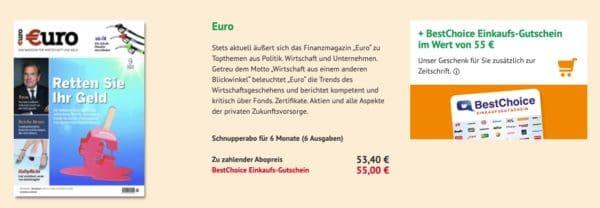 Euro im Halbjahresabo