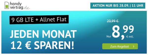 Handyvertrag.de 9GB 8,99€