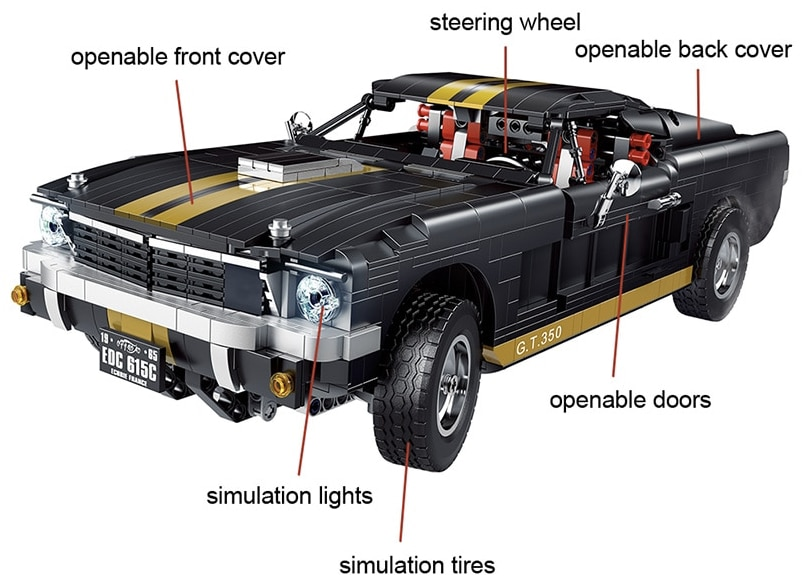 Kinder Spielzeug 1817Pcs Stadt Mustanged Super Racing Fahrzeug technische Kreative bausteine Racer Muscle Auto Ziegel Kinder Ge 2021 09 09