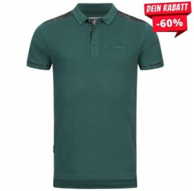 Lambretta Paisley Trim Herren Polo-Shirt EM4241-TEAL