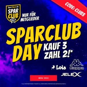 3 für 2 auf Kappa, JELEX & mehr 👕🏀 bei Sportspar per SparClub (Shirts, Sportgeräte & mehr)