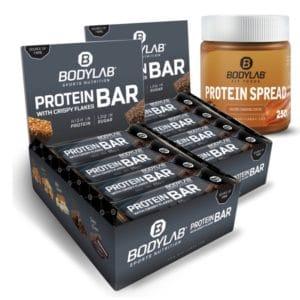 24x Bodylab24 Crispy Protein Riegel + Protein Spread