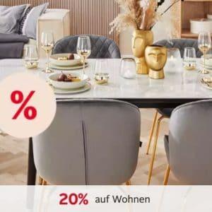 20% Gutschein auf Wohn-Artikel 🏠🎉 z.B. Sofas, Geschirr, Betten, Heimtextilien & mehr