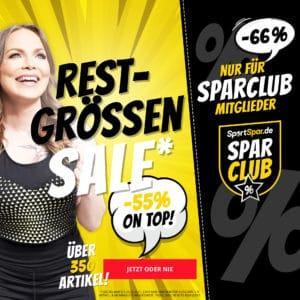 SportSpar Sale mit 55% 🎉🤩 z.B. T-Shirt für 2,70€ & mehr (66% per SparClub)