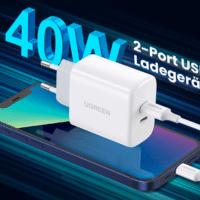 UGREEN 40W USB C Ladegeraet doppelt USB C Netzteil USB C Netzstecker kompatibel mit iPhone 13 13 Pro 13 Pro Max 12 12 Mini  2021 10 13 14 13 37