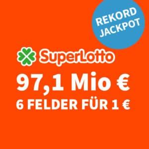 😱🏆 97,1 Mio. € Jackpot 🍀 6 Felder für nur 1€ (für Neukunden) 💰 50% für BK 💰 Jeder 3. Tipp gewinnt