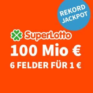 😱🏆 100 Mio. € Jackpot 🍀 6 Felder für nur 1€ (für Neukunden) 💰 50% für BK 🤩 Größter Jackpot Europas