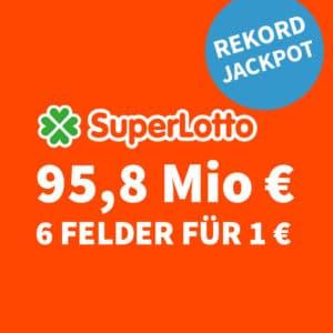 🥵🏆 95,8 Mio. € Jackpot 🍀 6 Felder für nur 1€ (für Neukunden) 💰 50% für Bestandskunden