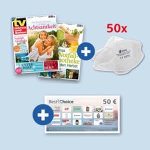 tv Hören & Sehen + Gratis 50 FFP2-Masken + 50 Euro BestChoice-Gutschein