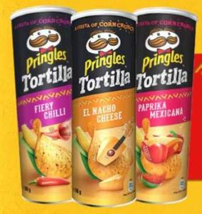 2 für 1 beim Kauf von 2 Pringles Tortilla (bis zu 10x)