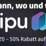 50% Rabatt auf alle Waipu.tv Guthabenkarten bei Rewe + Penny Kartenwelt vom 23.-29.11.20