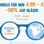 [Letzte Chance] Brillengestelle für nur4,95€ + 50% Rabatt auf Gläser
