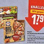 Rewe... Wagner... die Backfrische oder Big City Pizza für nur 1,29 Euro beim Kauf von 2 Wagner Pizzen mit 1,00 Euro Coupon