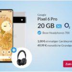 Google Pixel 6 Pro für 1 € + 20 GB LTE Allnet-Flat (o2 Free M) + Gratis Bose Kopfhörer: