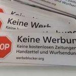 Gratis: KEINE WERBUNG - Aufkleber für den Briefkasten