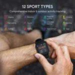 AUKEY LS02 Smartwatch mit 12 Aktivitätsmodi & IPX6